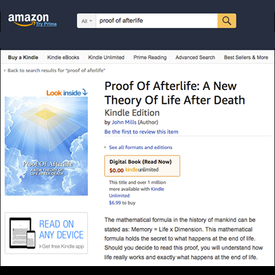 proof of afterlife book on Amazon